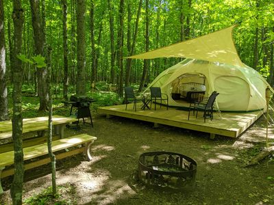 Photo for Luxury Tent #1 (Yurt-Style) - POV Resort Campgrounds - Social Distancing at its Best - Luxury Tent #