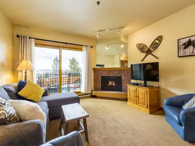 Photo for Charming Studio -Steps to Gondola/Skiing, Heated Pool & Hot Tub