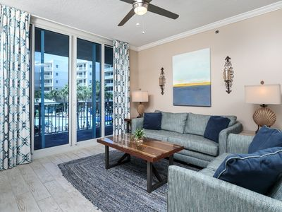 Photo for Elegantly-decorated coastal condo on Okaloosa Island! Free beach chairs! Washer/dryer in-unit!
