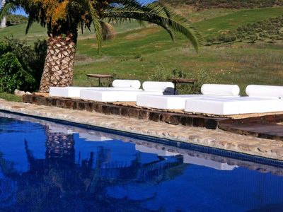 Photo for Stunning private villa for 8 guests with A/C, pool, WIFI, TV and parking