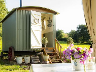 Photo for Bathsheba, the Shepherd's Hut is located in a four-acre meadow with lovely views