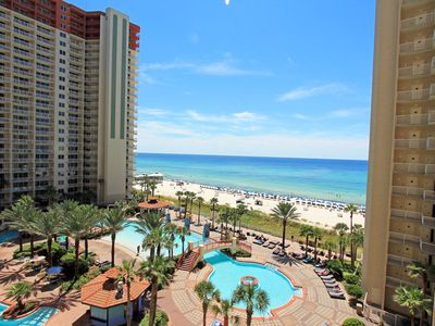 Photo for Shores of Panama 710-1BR+Bunk☀ Oct 13 to 15 $435! Balcony w/GulfViews-LagoonPool