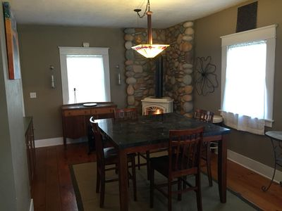 Dining table - seats for 4 and 2 bar stools