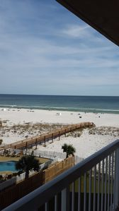 Gorgeous view of the Gulf of Mexico and the white, sandy beaches