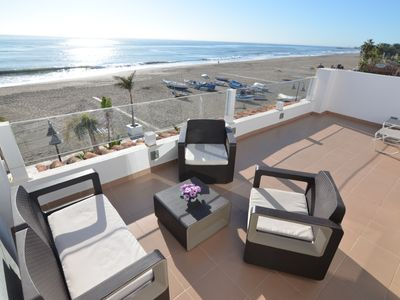 Photo for Duplex penthouse by the sea