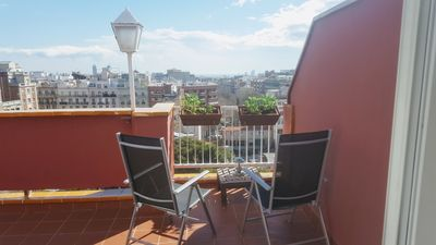 Photo for Penthouse with terrace and unobstructed views in Gracia, ideal families!