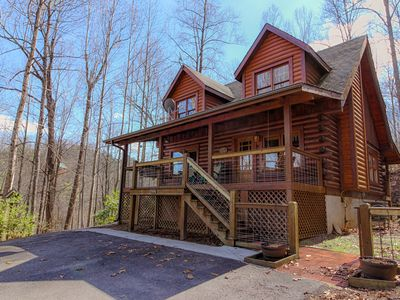 Photo for Family-friendly getaway w/ private hot tub, shared pool, & views of the Smokies