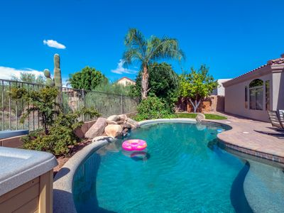 Photo for HIGH END LUXURY OASIS W/ HOT TUB +FIRE PIT+ POOL+GAME RM+BASKETBALL+FRUIT TREE