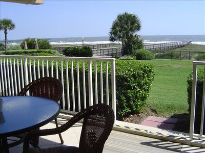 Enjoy the view and sounds from your private oceanfront patio