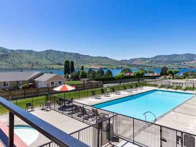 Photo for NEW LISTING! Lake Chelan Shores condo: Lakeview with swimming pools, lake & more