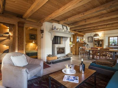 Photo for Charming apartment in chalet near Les Arcs classified 4 Cristaux Paradiski
