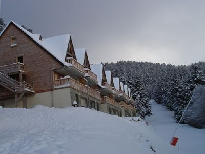 Photo for Apartment in a chalet on the slopes overlooking the peaks