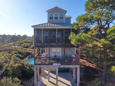 Photo for AVAILABLE NOW! Screened-in Decks & Elevator| Pet-Friendly Beach Rental with Private Pool and Hot