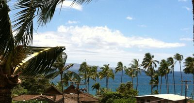 Spectacular ocean views from inside condo and lanai