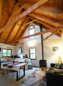 Traditional mountains cottage with enormous vaulted ceilings!