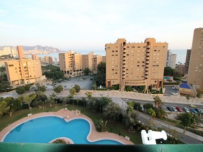 Photo for Apartment in Benidorm with Pool, Lift, Parking, Terrace (90731)