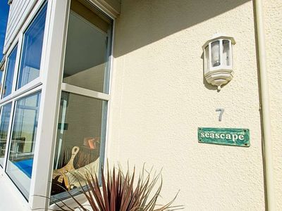 Photo for 2 bed dog friendly apartment close to Combesgate Beach with outside space and seaviews