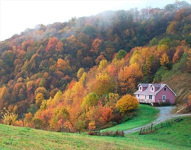 View of Max Patch Retreat in Autumn