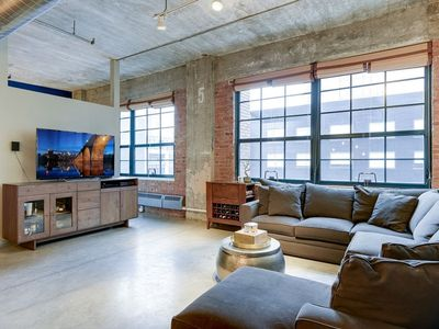 Photo for Luxury loft in historic building, one block from U.S. Bank Stadium