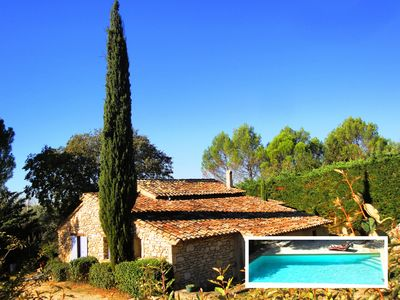Photo for 100% quiet in Uzès! Swimming-pool 10X5m, 70m² with AC + private terrace, WIFI, huge garden