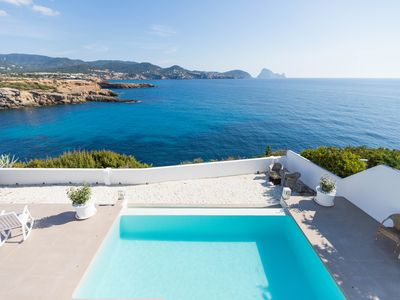Photo for Beautiful house with pool, amazing sea views, Es Vedra and only 5 min. walking from the beach