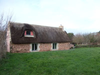 Photo for Penty, thatched cottage 2.5 km from the sea