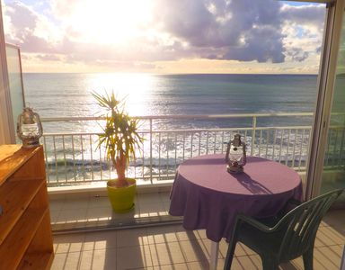 Photo for Apartment Facing the ocean at the foot of the Grande Plage for 4 people.