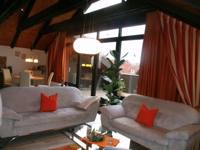 Photo for Exclusive Apartment Ambiente with fireplace and roof terrace - Haus Roseneck Wellness Apartments u.