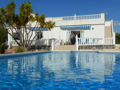 Photo for Spacious Detached Villa sleeps 11 with Private Swimming Pool and Gardens