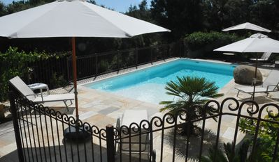 Superb villa with swimming pool, garden, at 500 meters from the beach