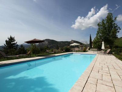 Photo for Beautiful house in Drôme Provençale - spa & pool - exceptional place