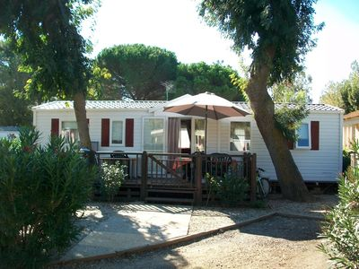 Photo for Mobile home camping 4 * The Carabasse Vias Plage beachfront (Hérault)