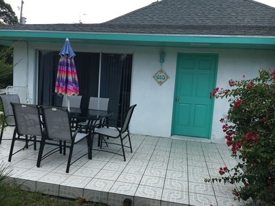 Photo for Charming cottage close to beach and pool.