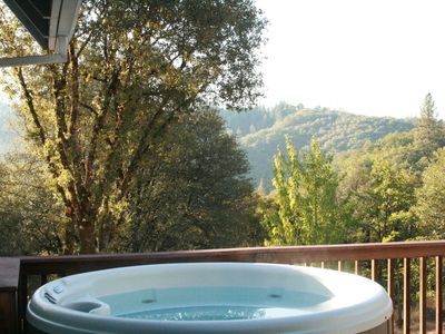 Photo for Private Hilltop Retreat with views, pool and hot tub