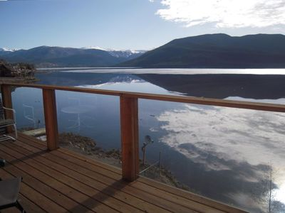 Photo for Lakefront Home - Dramatic views from upper and lower decks