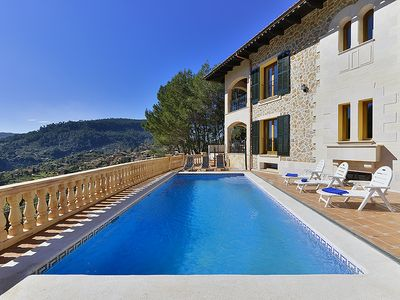 Photo for Spectacular Villa overlooking the Valley / village  sleeps 10 A/C. Wi Fi