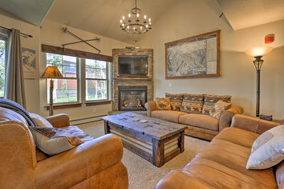 This mountain-inspired townhome features 2 bedrooms and 3 full baths.