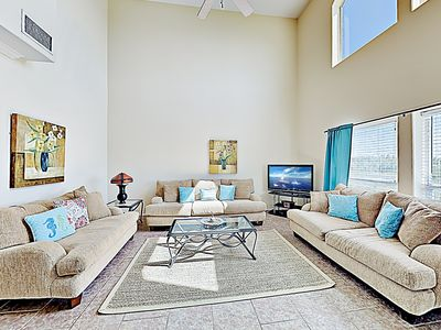 Photo for New Listing! Spacious Beach Home w/ Pool & Garage - Walk to Schlitterbahn