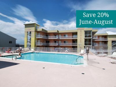 Photo for Relax in Mid-Town Ocean City - Wi-Fi, Upgraded Cable, Rooftop Pool and Hot Tub!