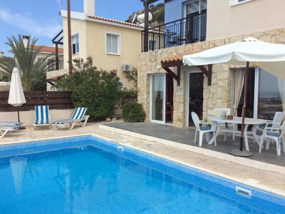 Photo for 3 Bed Detached family friendly villa, with superb sea and mountain views.