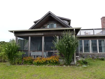 Photo for Friendly Hillside Cottage. Private Beach & Pond Access. Kayaks & bikes too.