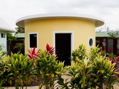 Photo for Brand new unique yellow round bungalow with AC/WIFI/POOL
