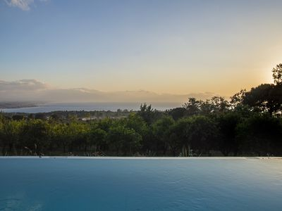 Photo for Panoramic house with sea view pool and large park 60. 000 sqm