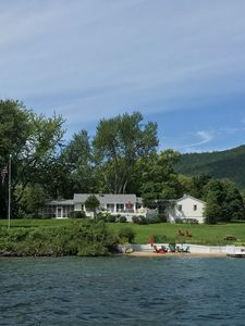 Photo for Beautiful Lake George Home with Private Beach, Dock