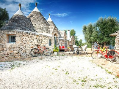 Photo for Trulli Messapia, villa with swimming pool | 3 bedrooms, 6 sleeps, 3 bathrooms | Itria Valley