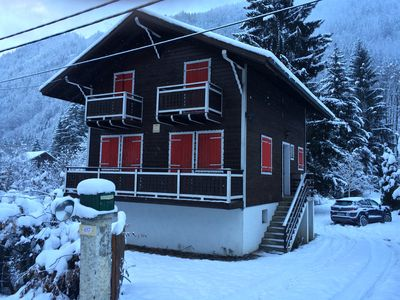 Photo for Chalet Marmotte: large ski chalet with views of Mont Blanc