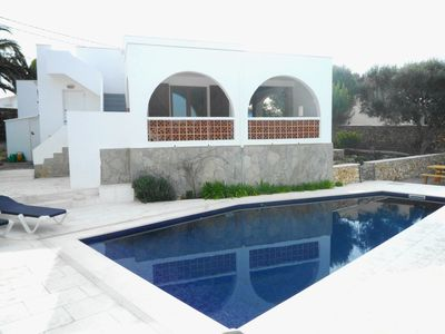 Photo for VIlla Rina for 6 with a private pool, only 1.2km to Menorca beaches!