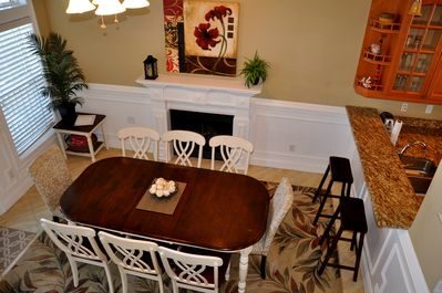 Enter front door and walk into the dining room