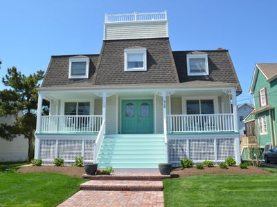 Photo for Sea Glass Cottage - Enjoy Rooftop Deck, only 2 blocks to beach and town