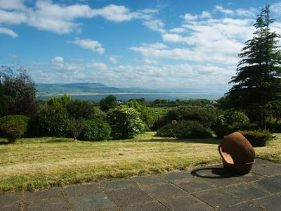 Views across Lough Foyle and the Inishowen peninsula from the holiday home